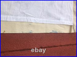 1 POTTERY BARN Crewel Embroidered Margaritte Cotton Linen Curtain 50x84 inches