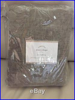 1 POTTERY BARN Pole Top Emery Drape Liner Cotton DOUBLEWIDE 100x96 NEW SABLE