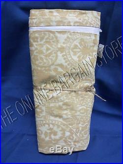 1 Pottery Barn Amelia Print Curtains Panels Drapes 50x84 Paisley Linen Neutral
