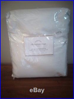 1 Pottery Barn Blackout Silk Dupioni Doublewide White Curtain Drape 104 X 124
