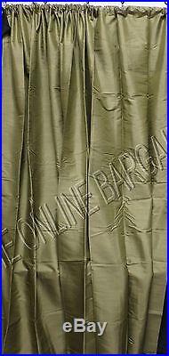 1 Pottery Barn DUPIONI SILK Drapes Panels Curtains 104x84 Lichen Green POLE TOP
