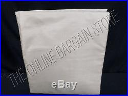 1 Pottery Barn DUPIONI SILK Lined Curtains Drapes Panels 50x96 Parchment poletop