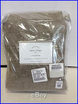 1 Pottery Barn Emery 3 in 1 Linen Drapes Panels Curtains Lined Double 100x84 NEW