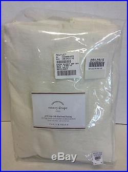 1 Pottery Barn Emery Linen Drapes Panels Curtains BLACKOUT 50X108 ivory