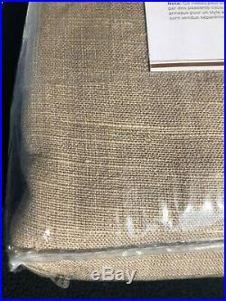 1 Pottery Barn Emery Linen poletop Drapes Panels Curtains BLACKOUT 50X108 walnut