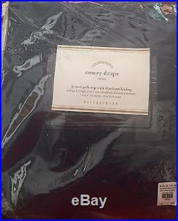 (1) Pottery Barn Emery NAVY BLUE Double-Wide Drape 100X108 Blackout Lining