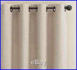 1 Pottery Barn Emery linen cotton drape panel grommet 50 84 Oatmeal New