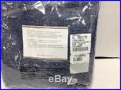 1 Pottery Barn Everyday 3 in 1 Drapes Window Curtains Panels 50x84 ink blue