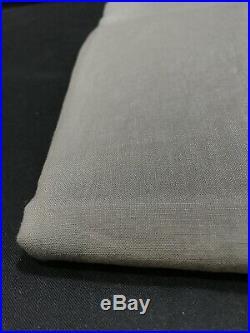 1 Pottery Barn Flagstone Belgian Flax Linen Blackout 108 Curtain Drape Panel
