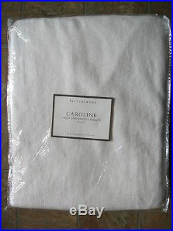 1 Pottery Barn Ivory Lined Linen Drape 108
