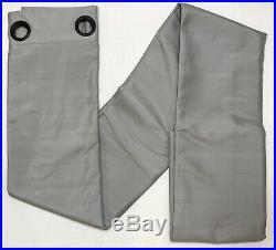 1 Pottery Barn Platinum Silk Grommet Blackout Drape Panel 96 Curtain