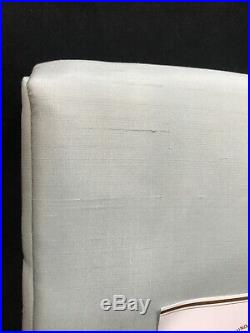 1 Pottery Barn Porcelain Blue Dupioni Silk 108 Blackout Curtain Panel Drape