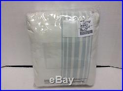 1 Pottery Barn Riviera Drapes Panels Curtains BLACKOUT 50X108 Porcelain Blue