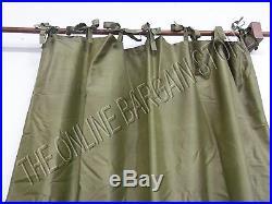 1 Pottery Barn SILK DUPIONI Window Curtains Drapes Panels Lichen 50x124 Tie Top
