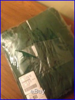 1 Pottery Barn Silk Dupioni Emerald Green Blackout Drape Panel Curtain 50 X 96