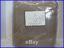 1 Pottery Barn Velvet Drapes Curtains Panels Lined Taupe Pole Pocket Top 100x124