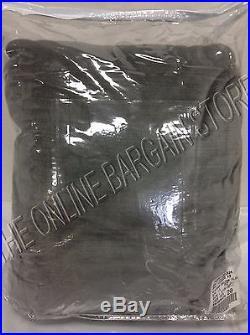 1 Pottery Barn Velvet Drapes Curtains Panels Pole Pocket Top Flagstone 100x84