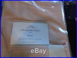 1 Pottery Barn silk dupioni drape panel soft rose 50 108 pole top New