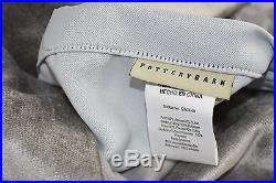$208 NEW Pottery Barn Shiny VELVET Drape Gray Grey Curtains 50 x 84 96 108