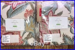 $218 POTTERY BARN CYNTHIA PALAMPORE DRAPE Two