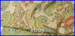2- AWESOME Pottery Barn Simone Drapes Curtains 50x96 Multi Color Beige Green