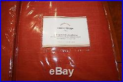 2 New Pottery Barn Emery Linen/cotton Blackout Pole Top Drapes Curtain Terra Red