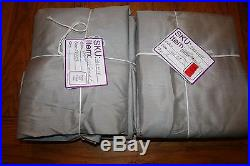 2 New Pottery Barn Silk Dupioni Grommet Curtains Panels 108platinum Gray Set