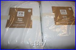 2 New Pottery Barn Teen Classic Metro White Blackout Curtains Drapes 84 Nwt Set