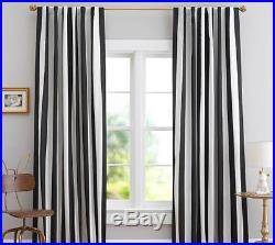 2 New Pottery Barn Teen Emily & Meritt Circus Stripe Blackout Drapes Curtains 84