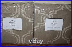 2 NIP Pottery Barn Avery pole top drape panels 50x84 neutral linen cotton