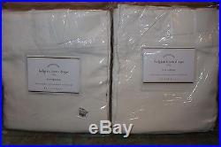 2 NIP Pottery Barn Washed Belgian Flax Linen drape panels 50x108 ivory