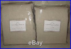 2 NIP Pottery Barn Washed Belgian Flax Linen drape panels 50x108 natural khaki
