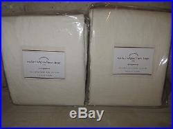 2 NIP Pottery Barn Washed Belgian Flax Linen drape panels 50x84 ivory