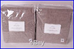 2 NWT Pottery Barn Emery doublewide pole blackout drape panels 100x84 sable