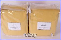 2 NWT Pottery Barn Emery doublewide pole drape panels 100x108 marigold yellow