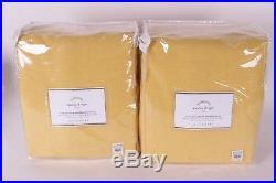 2 NWT Pottery Barn Emery doublewide pole drape panels 100x84 marigold yellow