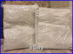 2 New Pottery Barn Emery Linen/cotton Drapes Pole Pocket Oatmeal 50x96 Panels