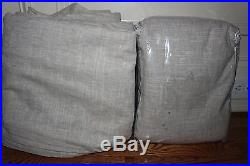 2 New Pottery Barn Emery pole blackout drape panels 100x96 oatmeal linen cotton