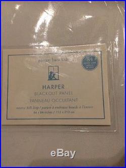 2 New Pottery Barn Kids Harper Ribbon Blackout Lined Curtains Panels 84 Lavender