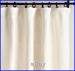 2 POTTERY BARN 100% Belgian Flax LINEN DRAPES IVORY Drapes 50x108 2 panels