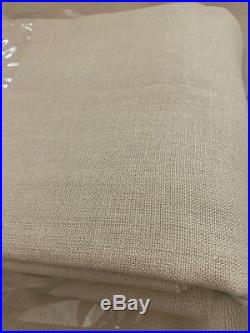 2 POTTERY BARN BELGIAN LINEN UNLINED DRAPES 50X84 NATURAL NEW $398 Flax