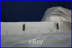 2 POTTERY BARN DUPIONI SILK/ Ivory 50 X 84 Curtains Drapes/Lined/Blackout