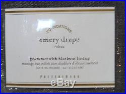 2 POTTERY BARN Emery 50x96 GROMMET Drapes withBLACKOUT Liner, CHARCOAL GRAY, NEW