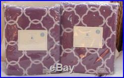 2 Pottery Barn Kids Abigail Blackout Drapes Panels, 84l, Purple Lavender, Nip