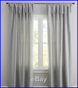 2 POTTERY BARN PB kids teen TIE TOP Curtains Drape GREY Gray 84 NEW 4 avail
