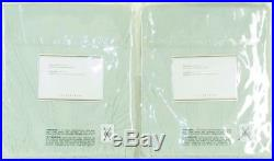 2 POTTERY BARN Pole Top SMOCKED DRAPES Rideau Green Cotton 42 x 108