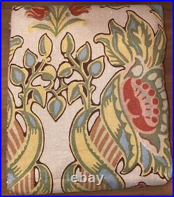 2 POTTERY BARN SIMONE DRAPE POLE TOP Curtains 50x84 Linen Cotton Beige Green