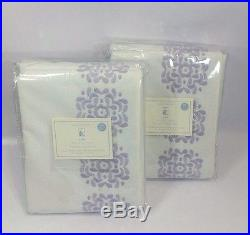 2 Pc. Pottery Barn Kids MIA Blackout Panel Lined Curtains Lavdender 44 x 96 NWT