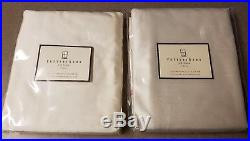 (2) Pottery Barn 50x96 Ivory Cream Silk Drapes Curtains Pole Pocket Rideau