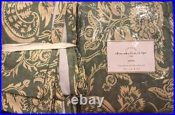 (2) Pottery Barn Alessandra Floral Print Drapes Curtains 50x84 Blue New